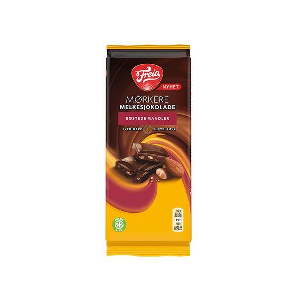Bilde av Mørkere Melkesjokolade - Røstede Mandler